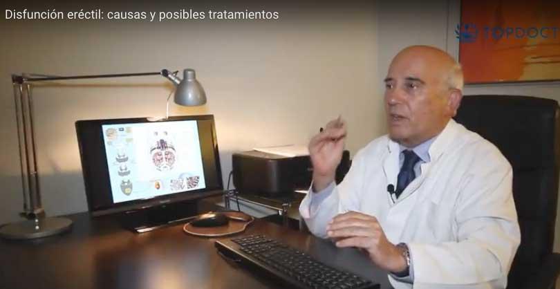Vídeo del Dr. Pomerol sobre la disfunción eréctil, sus causas y posibles tratamientos.